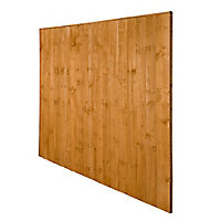 Traditional Feather edge Fence panel (W)1.83m (H)1.85m, Pack of 4