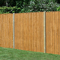 Traditional Feather edge Fence panel (W)1.83m (H)1.85m, Pack of 5