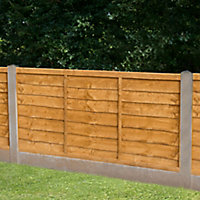 Traditional Lap Fence panel (W)1.83m (H)0.91m