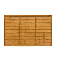 Traditional Lap Fence panel (W)1.83m (H)1.22m