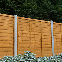 Traditional Lap Fence panel (W)1.83m (H)1.83m