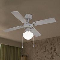 Traditional Matt White Ceiling fan light