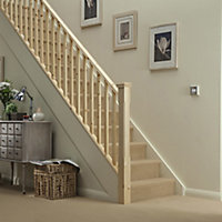 Traditional Natural 32mm Handrail, (L)2.4m (W)66mm