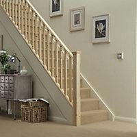 Traditional Natural 41mm Handrail, (L)3.6m (W)66mm