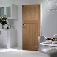 Traditional Oak veneer LH & RH Internal Door, (H)1981mm (W)762mm