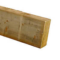 Treated Sawn Spruce Timber (L)2.4m (W)100mm (T)47mm, Pack of 4