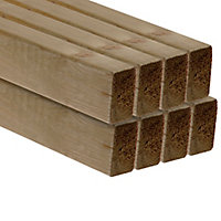 Treated Smooth Planed Round edge Pine C16 CLS timber (L)2.4m (W)63mm (T)38mm, Pack of 8