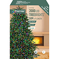 Treebrights 2000 Multicolour LED String lights Green cable