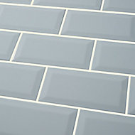 Trentie Blue Gloss Metro Ceramic Wall Tile Sample