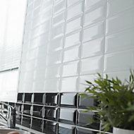 Trentie White Gloss Metro Ceramic Wall Tile Sample
