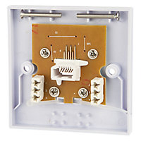 Tristar Flat White Extension socket