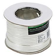 Tristar White 8 core Telephone cable, 50m