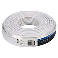 Tristar White Coaxial cable, 50m