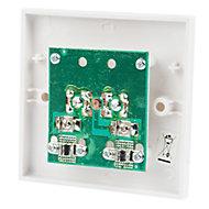 Tristar White Double F-type socket
