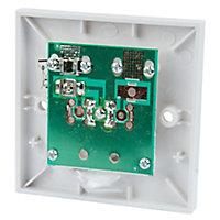 Tristar White Single F-type socket