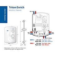 Triton Enrich White Electric Shower, 10.5kW