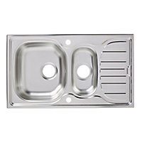Turing Polished Inox Stainless steel 1.5 Bowl Sink & drainer