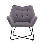 Turio Stone grey Linen effect Chair (H)865mm (W)750mm (D)800mm