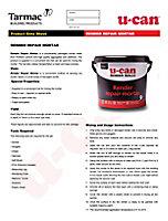U-Can Rendering Repair mortar, 5kg Tub