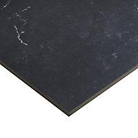 Ultimate Black Marble effect Porcelain Wall & floor Tile, Pack of 3, (L)595mm (W)595mm