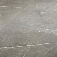 Ultimate Grey Marble effect Porcelain Wall & floor Tile, Pack of 3, (L)595mm (W)595mm