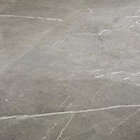 Ultimate Grey Marble Marble effect Porcelain Floor tile, Pack of 3, (L)595mm (W)595mm