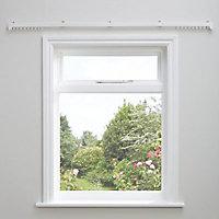 Uncorded White Fixed Curtain track, (L)1.8m