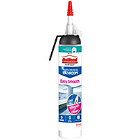 UniBond Easy smooth Mould resistant White Kitchen & bathroom Silicone-based Sanitary sealant, 200ml