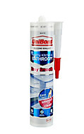 UniBond Easy smooth Mould resistant White Kitchen & bathroom Silicone-based Sealant, 300ml