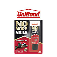 UniBond No More Nails Original Solvent-free Water-based Beige Multi-purpose Grab adhesive 40ml