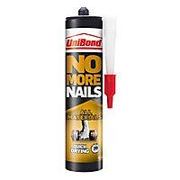 UniBond No more nails Solvent-free White Grab adhesive 390ml