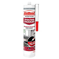UniBond Perfect finish Grey Silicone-based General-purpose Sealant, 300ml