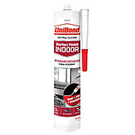 UniBond Perfect finish White Silicone-based General-purpose Sealant, 300ml