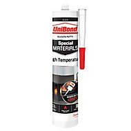 UniBond Special materials Black Silicone-based Fire resistant Sealant, 280ml