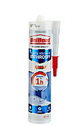 UniBond Speed Mould resistant Clear Kitchen & bathroom Silicone-based Sanitary sealant, 300ml