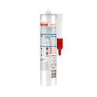UniBond Speed Mould resistant White Kitchen & bathroom Silicone-based Sanitary sealant, 300ml