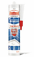 UniBond Triple protect Mould resistant White Kitchen & bathroom Silicone-based Sealant, 300ml