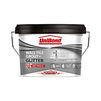UniBond Ultra force Ready mixed Grey glitter Floor & wall Tile Adhesive & grout, 3.2kg