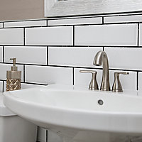 UniBond UltraForce Ready mixed Black glitter Wall tile Grout, 3.2kg Tub