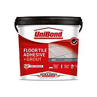 UniBond UltraForce Ready mixed Grey Floor Tile Adhesive & grout, 7.3kg