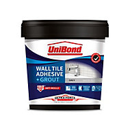 UniBond UltraForce Ready mixed Grey Tile Adhesive & grout, 1.38kg