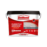 UniBond UltraForce Ready mixed Grey Tile Adhesive & grout, 14.3kg