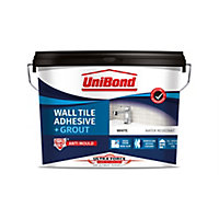 UniBond UltraForce Ready mixed Ice white Tile Adhesive & grout, 12.8kg