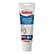 UniBond UltraForce Ready mixed White Wall tile Adhesive & grout, 0.3kg
