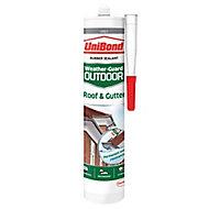 UniBond Weather-guard Grey Roof & gutter Sealant, 0.3L