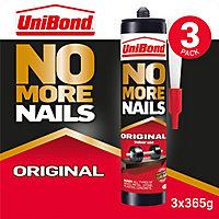 UniBond White Grab adhesive 840ml, Pack of 3