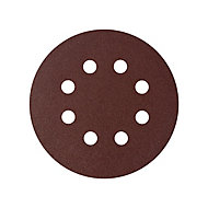 Universal Fit 120 grit Sanding sheet (L)125mm (Dia)125mm, Pack of 5