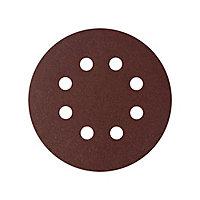 Universal Fit 180 grit Sanding sheet (L)125mm (Dia)125mm, Pack of 5