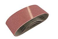 Universal Fit 40 grit Sanding belt (W)76mm (L)533mm, Pack of 3