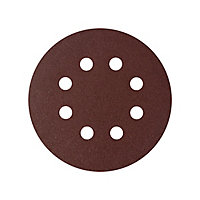 Universal Fit 40 grit Sanding sheet (L)125mm (Dia)125mm, Pack of 5